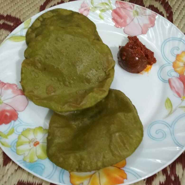 How to make Spinch Puri