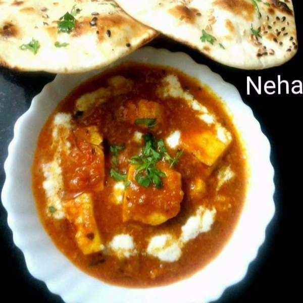 Photo of Restaurant Style Paneer Butter Masala with my Special Tawa Naan by Neha Saurabh at BetterButter