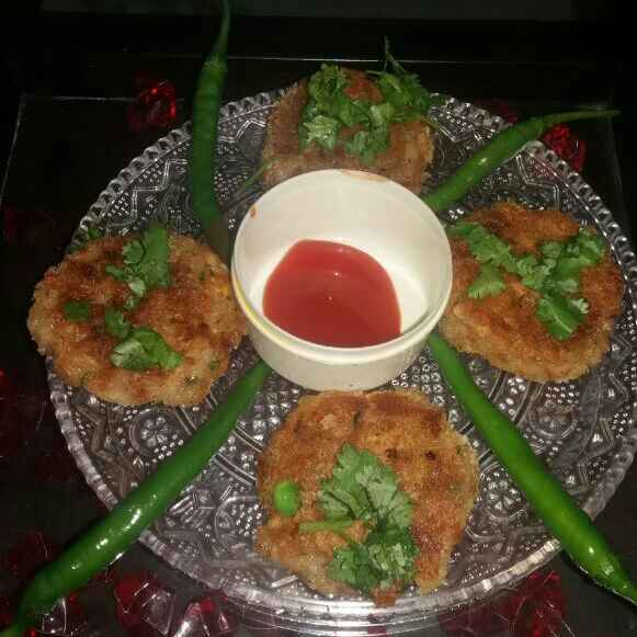 How to make Healthy cutlets {corn peas carrot }