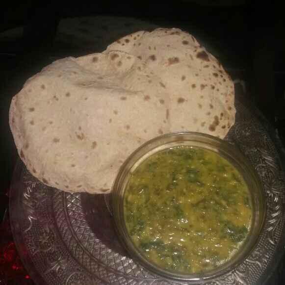 How to make Dal bhaji or palak ki dal [moong dal with spinach]