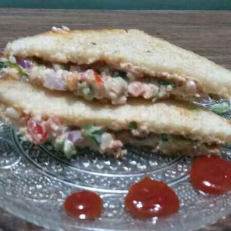 Photo of Hung curd vegetable sandwich by Neha Sharma at BetterButter