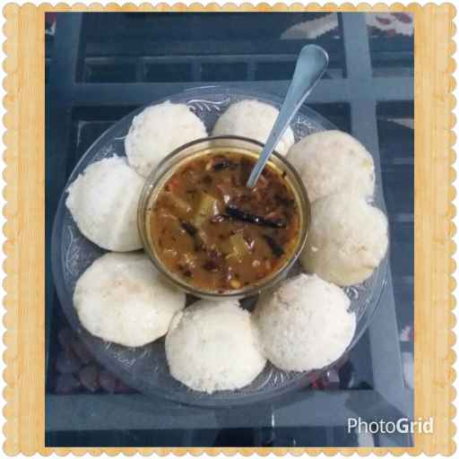Photo of Sabudana sama ke chawal ki idli sambhar ke sath by Neha Sharma at BetterButter