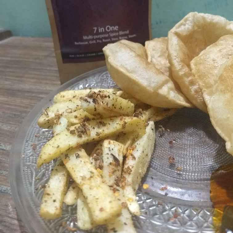 How to make french fries enriched with sprig
