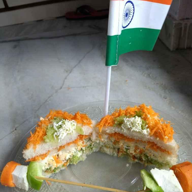 How to make Tricolour sandwiches
