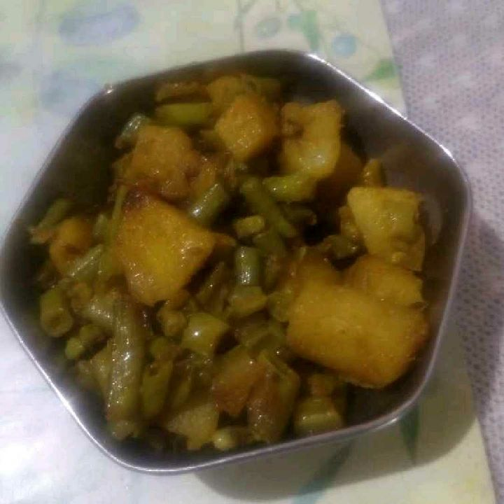 How to make Long beans-potato vege