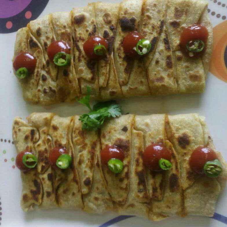 Photo of Aalu plated paratha by Shital Sharma at BetterButter