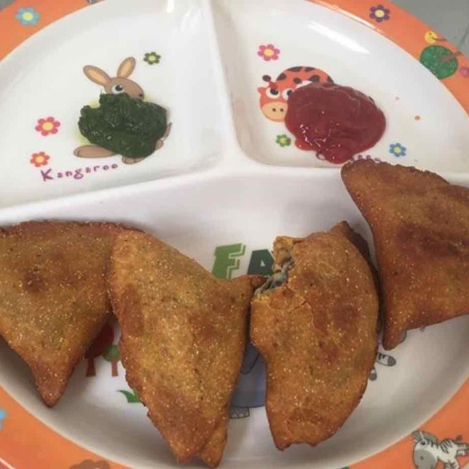 Photo of Wheat flour chana chat samosa by Neha Nikul Raval at BetterButter