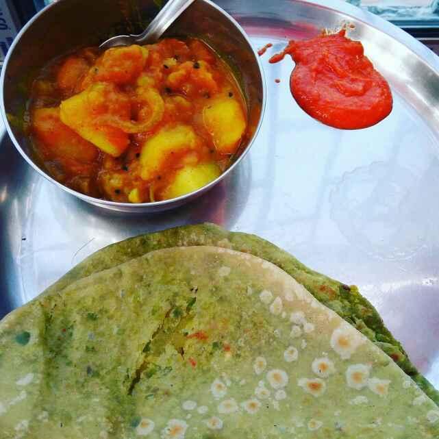 How to make Peas Paratha with aloo sabji