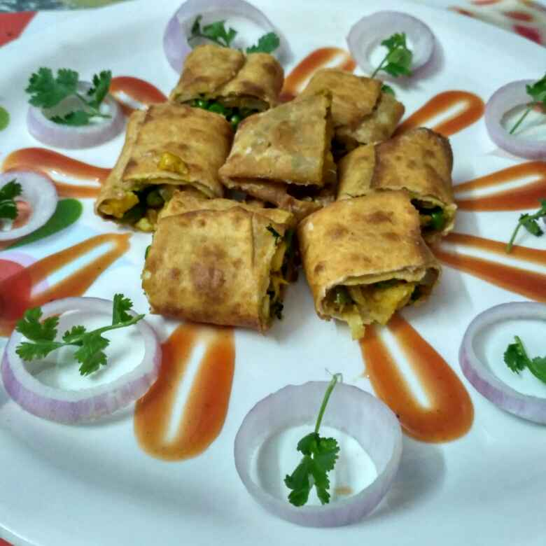 Photo of Indian spring roll by Nidhi Bansal at BetterButter