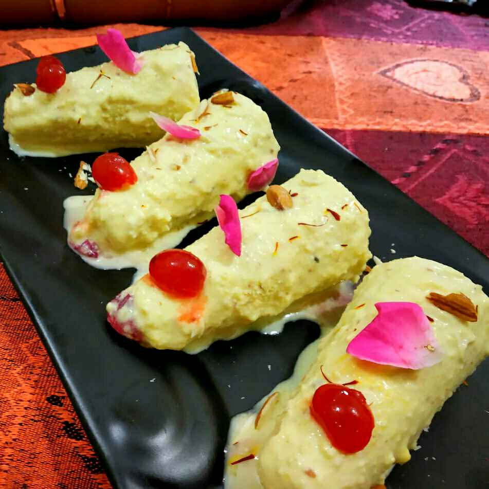 Photo of Kesar paneer kulfi by Nidhi Bansal at BetterButter