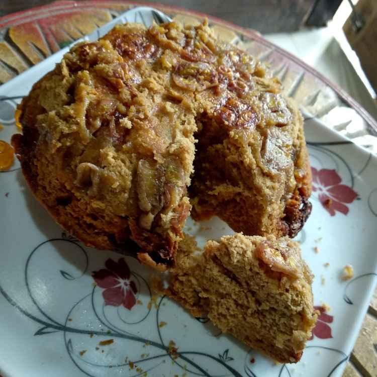 How to make आटे और केले का केक