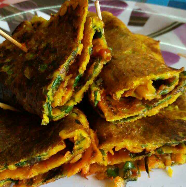 Photo of Spinach shezwan wrap by Nidhi Seth at BetterButter