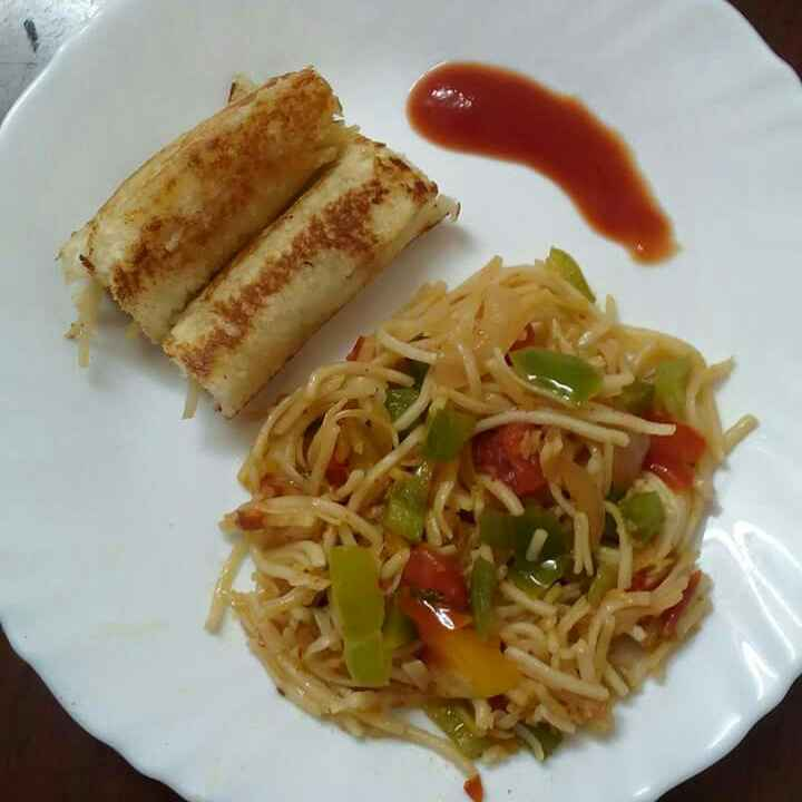 How to make Noodles roll.. From leftover noodles