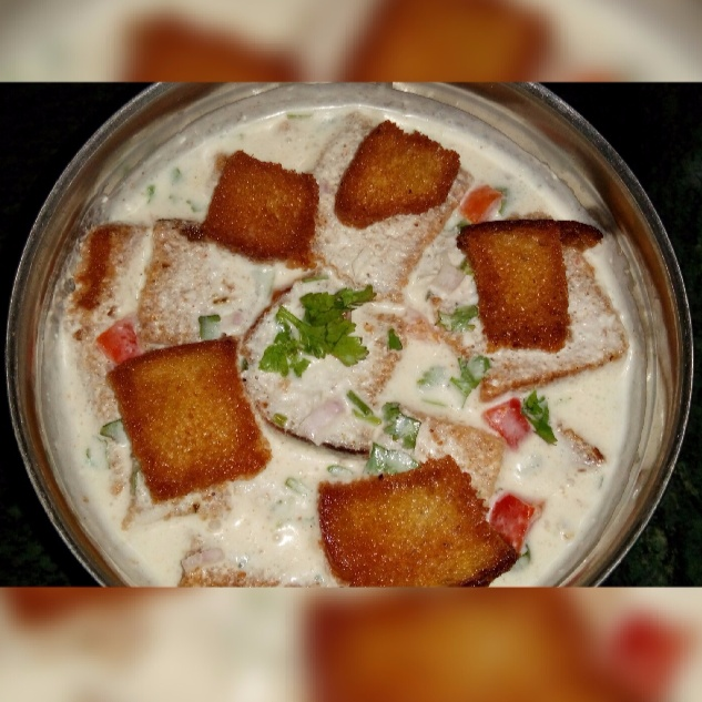 How to make Bread Raita (Yogurt With Bread )