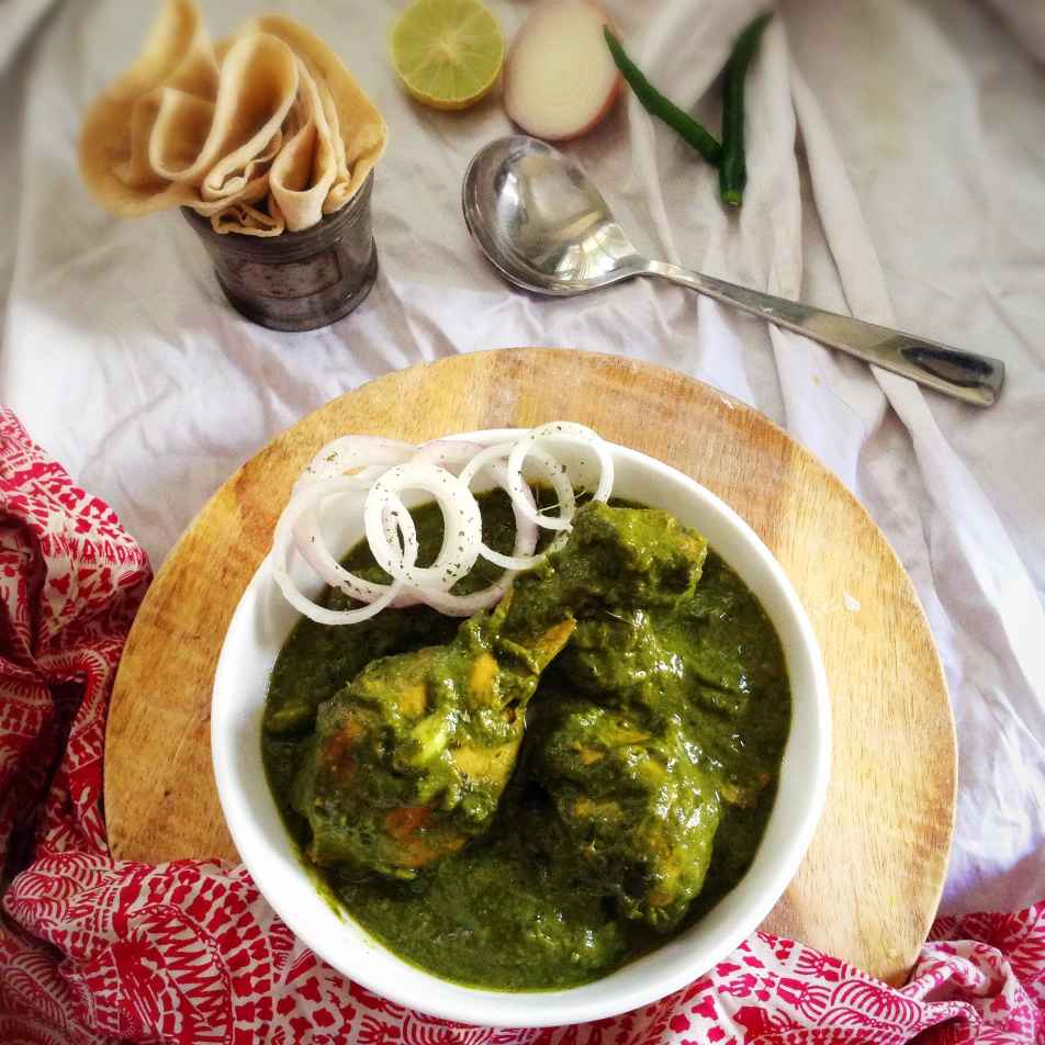 How to make Palak Chicken