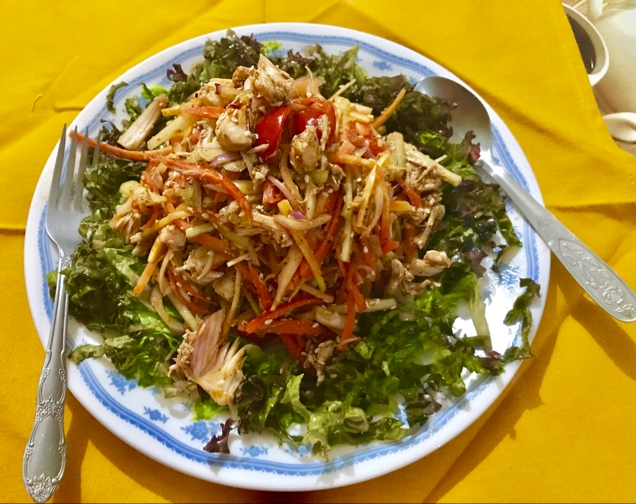 Photo of schezwan chicken salad by Nilanjana Bhaumik at BetterButter
