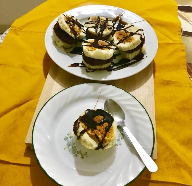 Photo of choco- vanilla flan sandwich by Nilanjana Bhaumik at BetterButter
