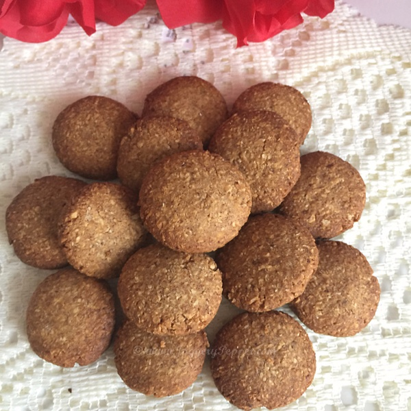 How to make Whole Wheat Coconut Cookies using Jaggery