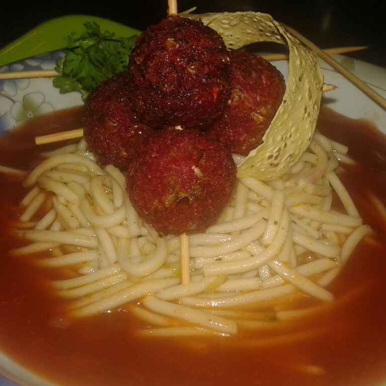 Photo of Spaghetti with Meatballs by Nilofar Isani at BetterButter