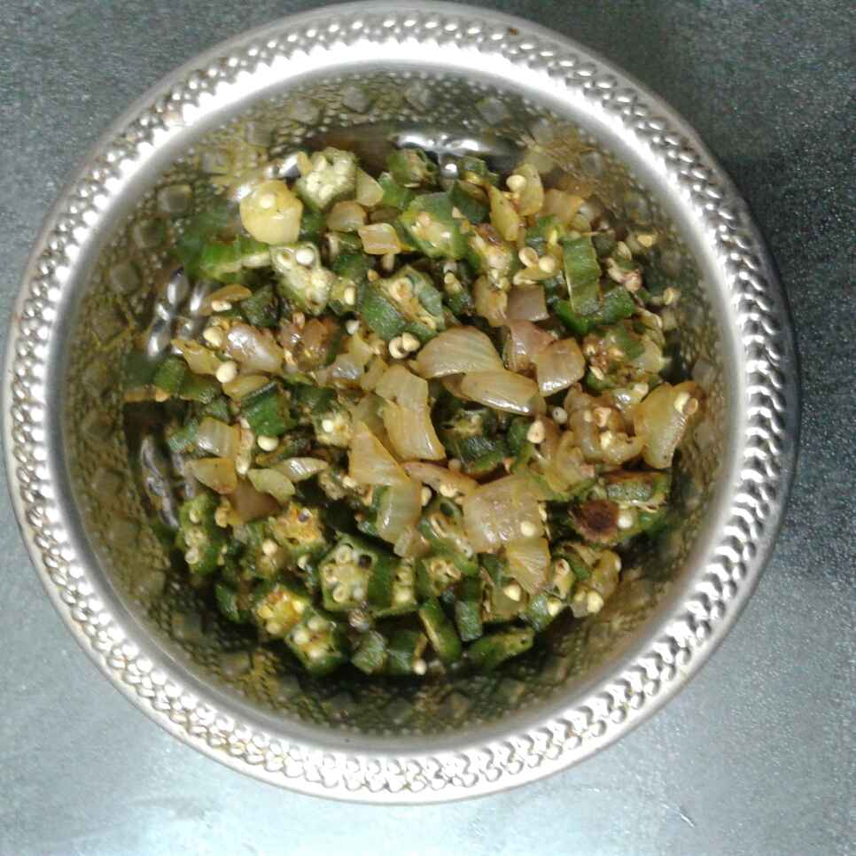 Photo of Ladies  finger fry by nilopher meeralavai at BetterButter