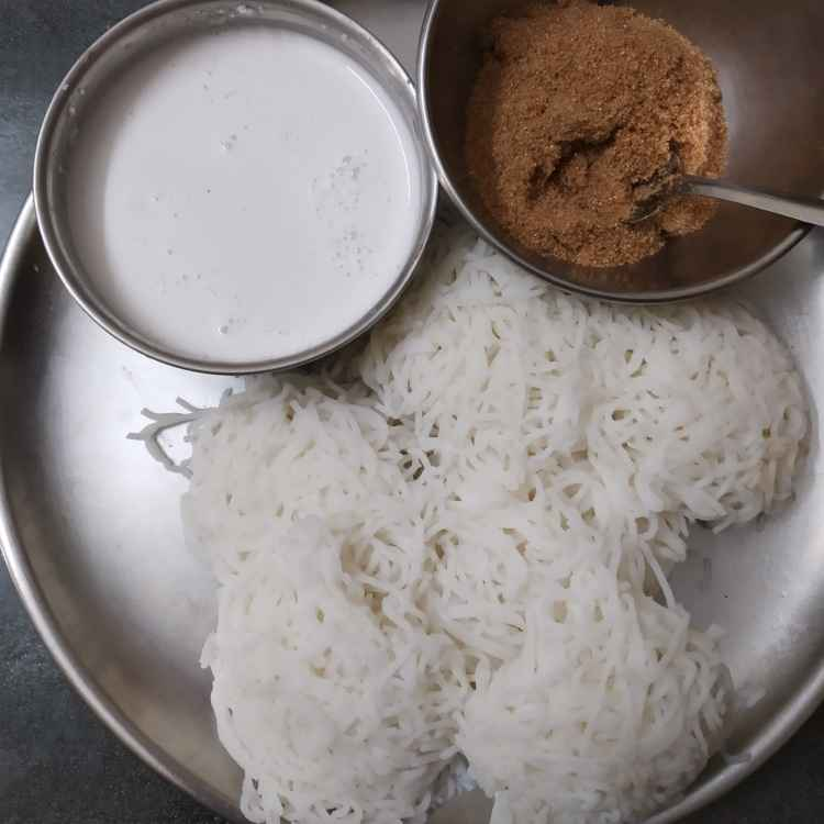Photo of Idiyappam coconut milk by nilopher meeralavai at BetterButter