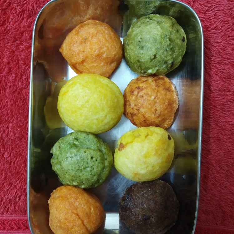 Photo of Colour paniyaram by nilopher meeralavai at BetterButter