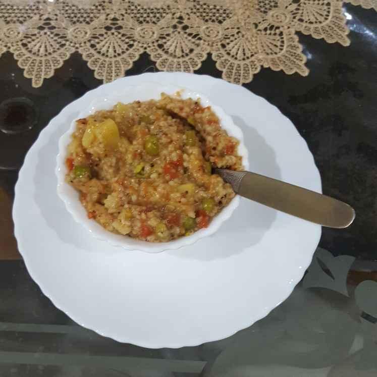 How to make Vegetable dalia
