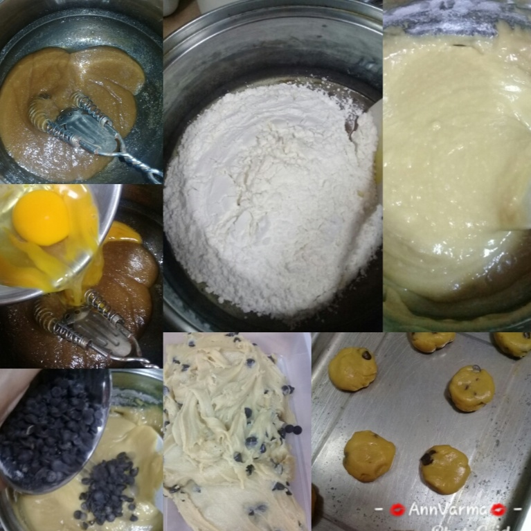 How to make Butter + chocolate chip cookies