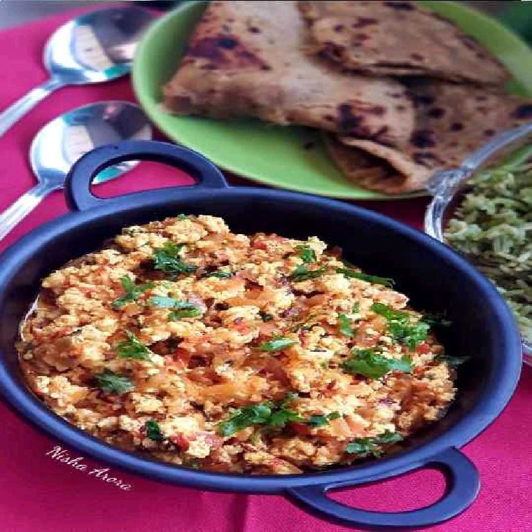 How to make Kasoori Methi Paneer Burji
