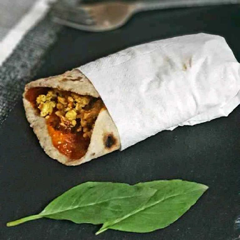 How to make Paneer Burji Chapati Wrap