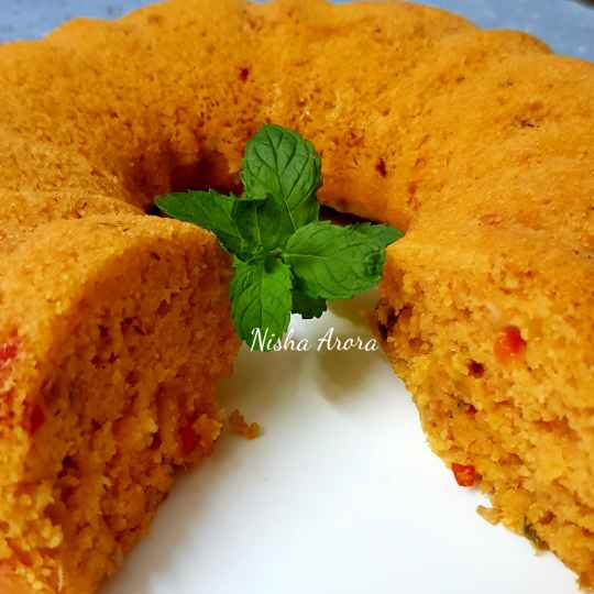 Photo of Steamed Maggi Pazzta Tomato Twist Oats cake by Nishha Arora at BetterButter
