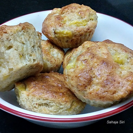 How to make Eggless Banana muffins