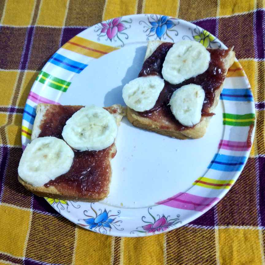 Photo of Banana open sandwich by Nisha Nisha at BetterButter