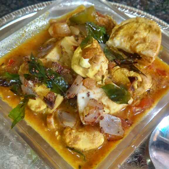 How to make south Indian anda curry