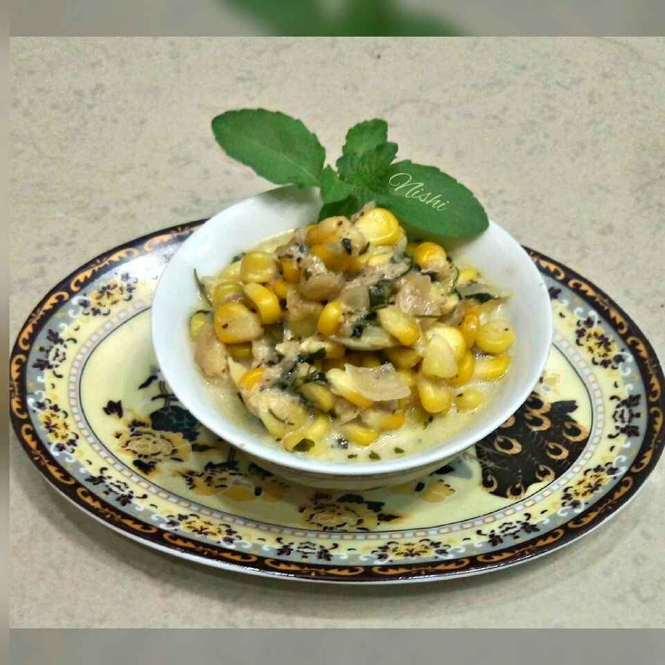 Photo of Methi malai corn by Nishi Maheshwari at BetterButter