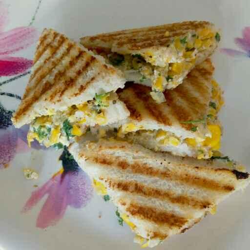 Photo of Curd corn sandwich by Nishi Maheshwari at BetterButter