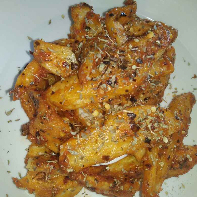 Photo of Potato wedges in cajun sauce and pasta sauce by Nitu Sharma at BetterButter