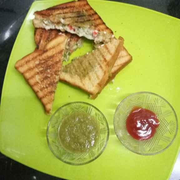How to make वेज ग्रिल्ड सैंडविच