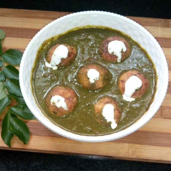 How to make Panner kofta in spinach gravy