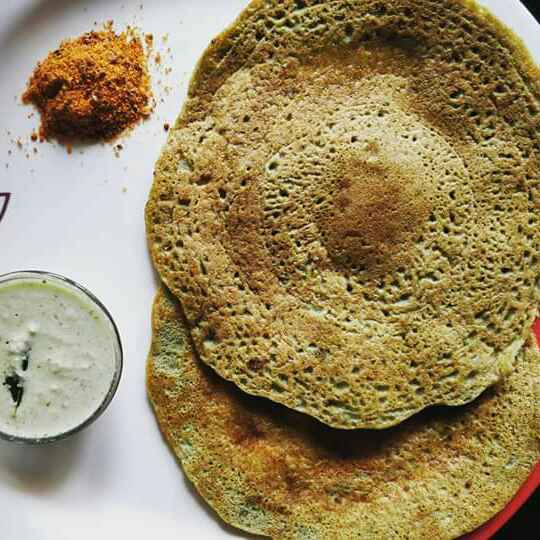 How to make Green protein dosa