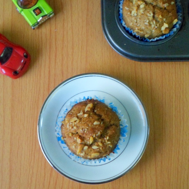 Photo of Whole wheat eggless banana muffins by Nusrath Jahan at BetterButter