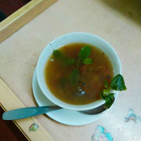 Photo of Basil and mushroom soup by Oindrila Rudra at BetterButter
