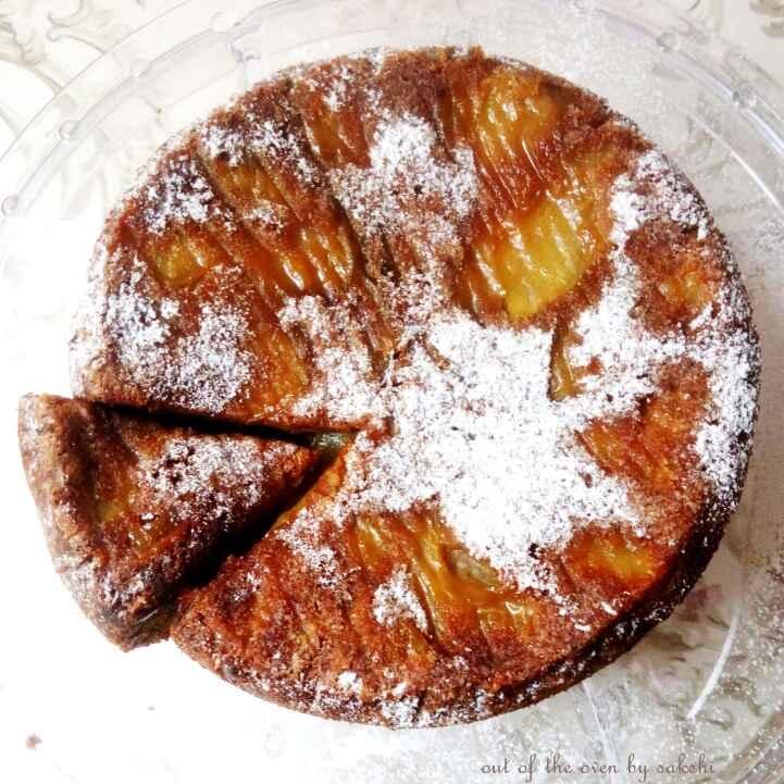 How to make Eggless Apple Cinnamon-coffee Upsidedown Cake