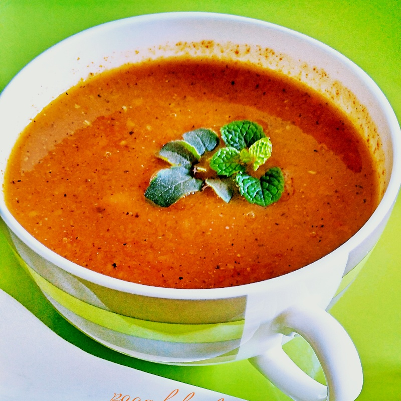 Photo of Vegan Roasted Bell Pepper & Tomato Soup by Paarulz Kitchen at BetterButter