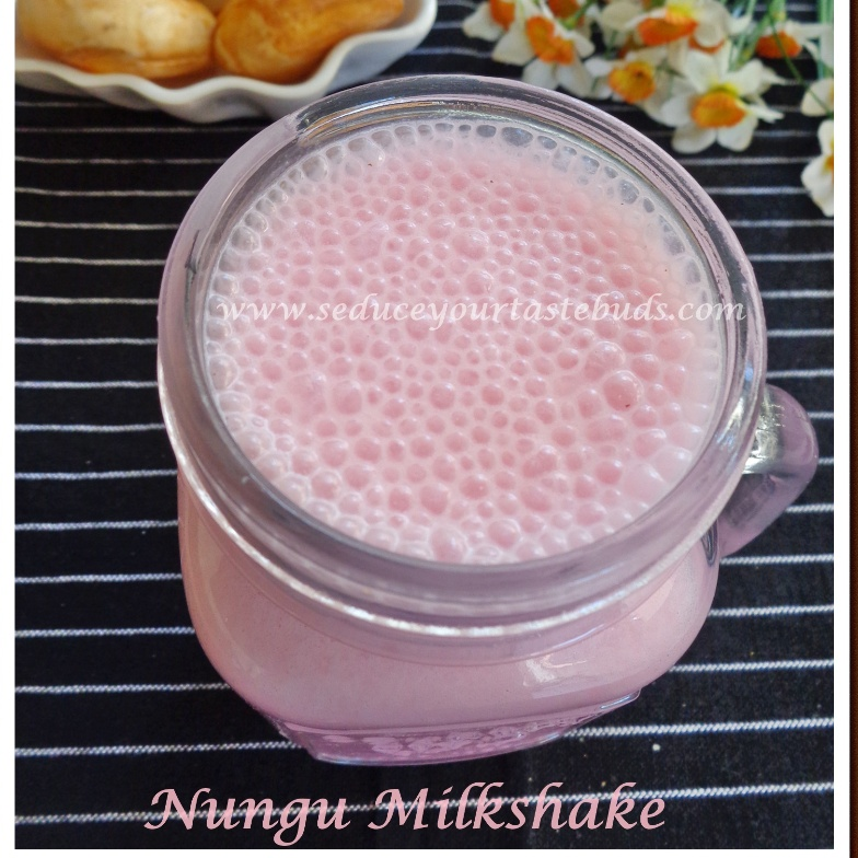 How to make Nungu Milkshake / Palm Fruit Milkshake