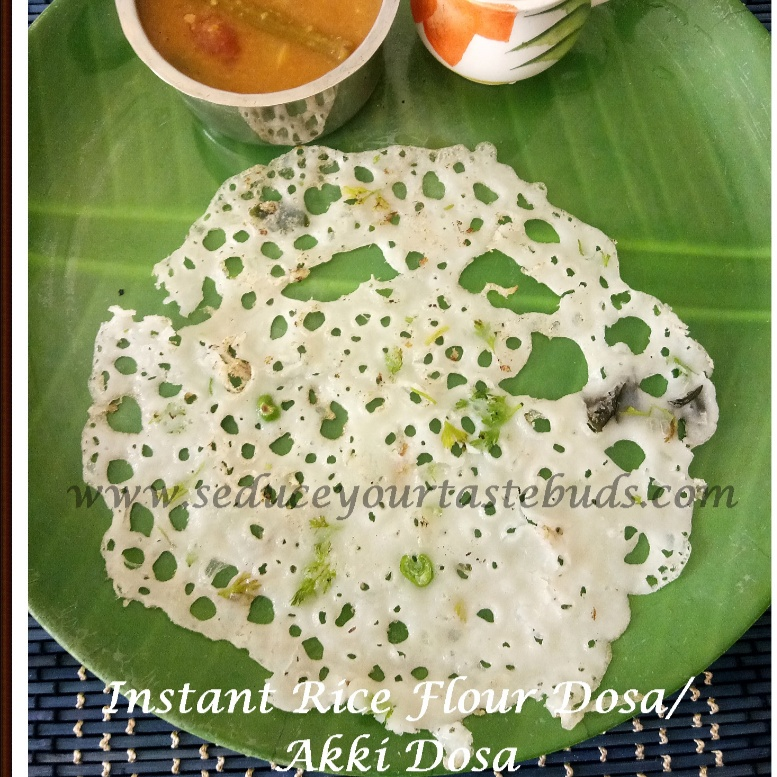 Photo of Instant Akki Dose | Instant Rice Flour Dosa Recipe by Padmajha Sureshbabhu at BetterButter