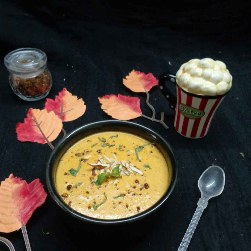 Photo of Carrot Capsicum and Almond soup by Padmajha Sureshbabhu at BetterButter