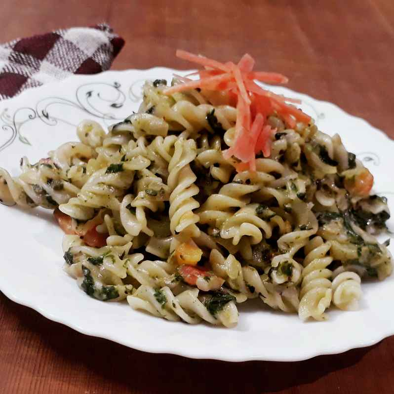 Photo of Creamy spinech pasta by Papiya Nandi at BetterButter