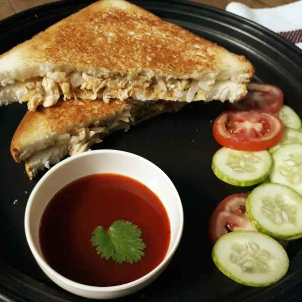 Photo of Chicken mayo sandwitch by Papiya Nandi at BetterButter