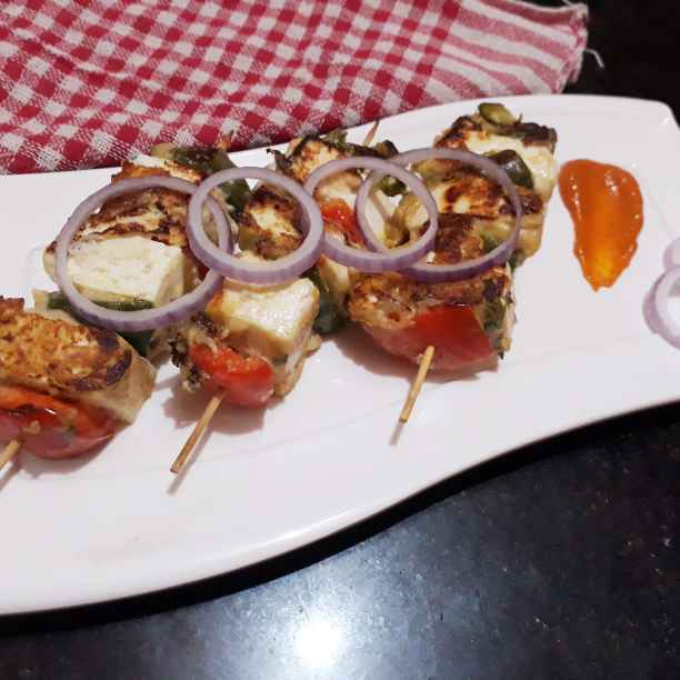 Photo of Paneer sashlic kabab by Papiya Nandi at BetterButter